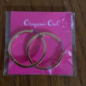 Origami Owl Hoop Earrings with Swarovski Crystals